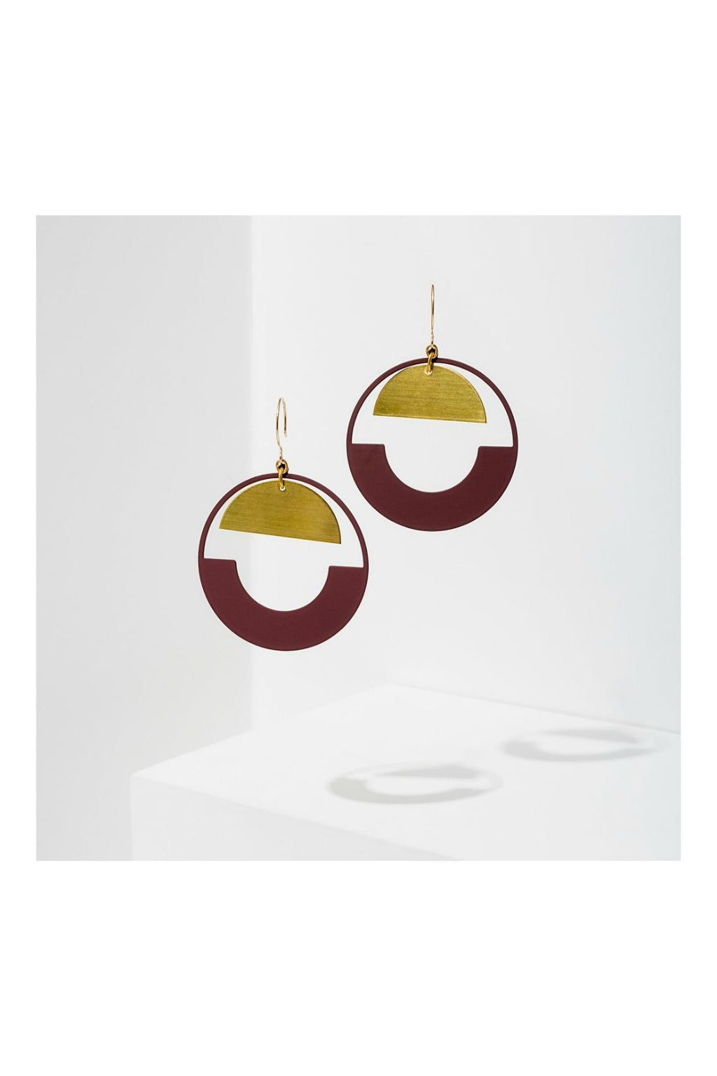 Larissa Loden Baltic Hoop Earrings - Maroon