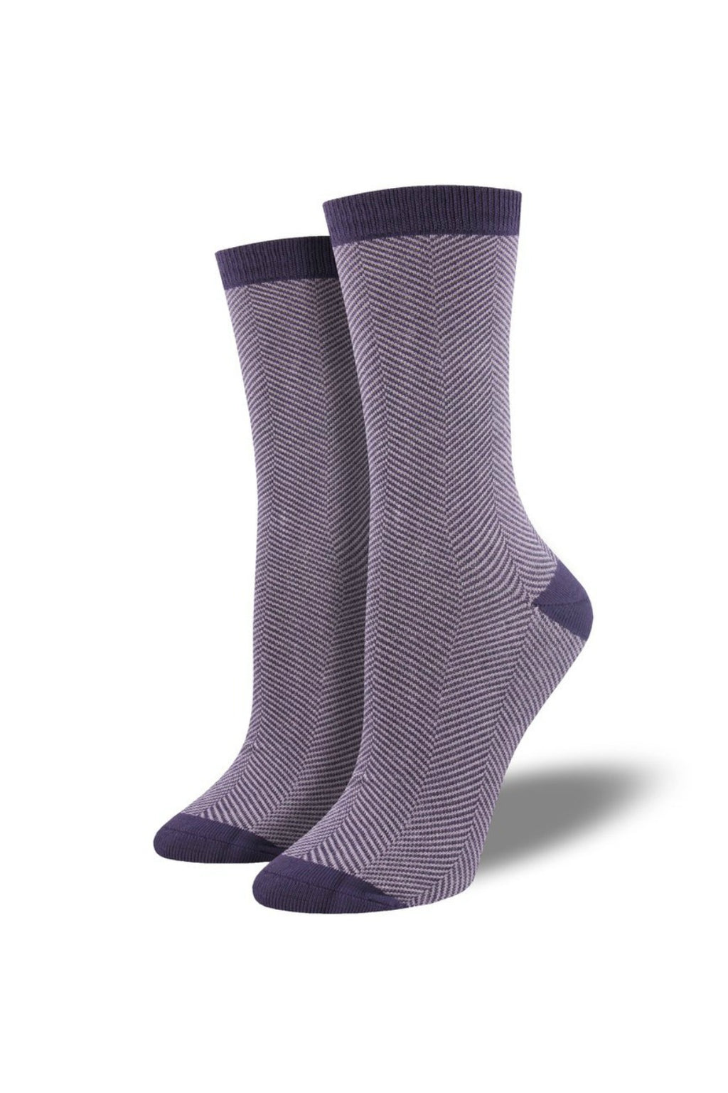 Socksmith Bamboo Socks Solid in Herringbone Purple