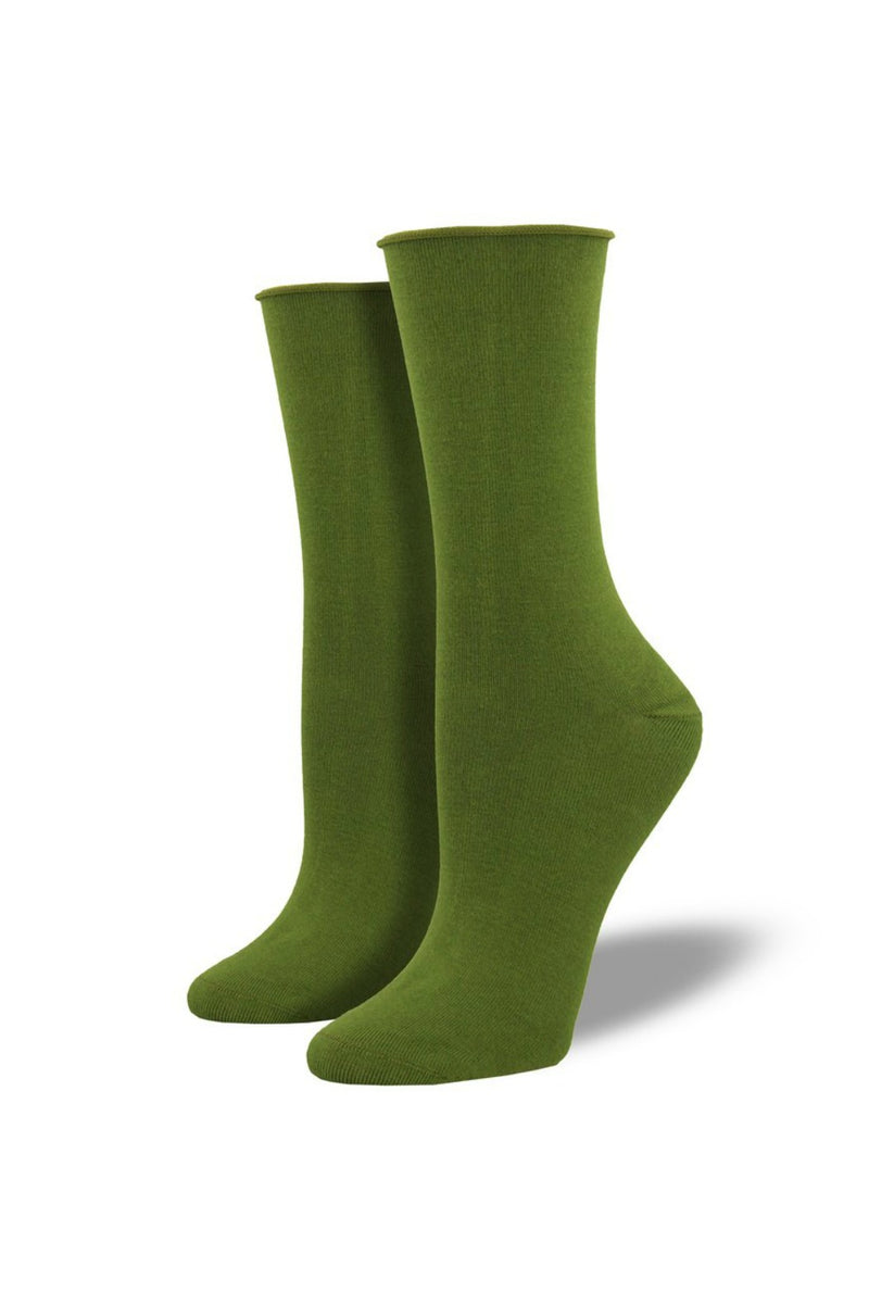 Socksmith Bamboo Crew Socks in Parrot Green