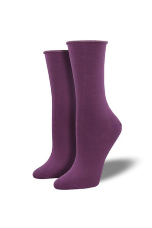 Socksmith Bamboo Crew Socks in Viola