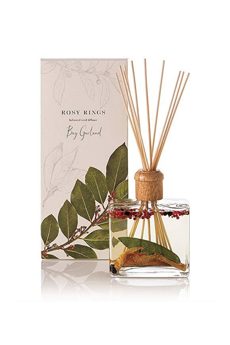 Rosy Rings Botanical Reed Diffuser - Bay Garland