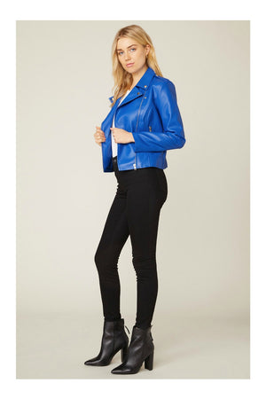 BB Dakota Just Ride Moto Jacket Cobalt Blue