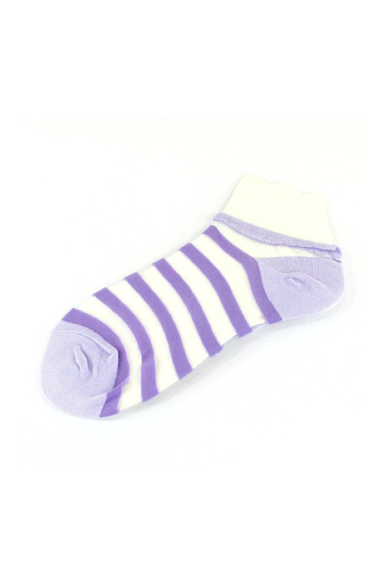 Pretty Persuasions Beach Day Socks in Lavender