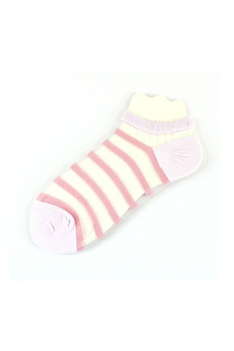 Pretty Persuasions Beach Day Socks in Pink