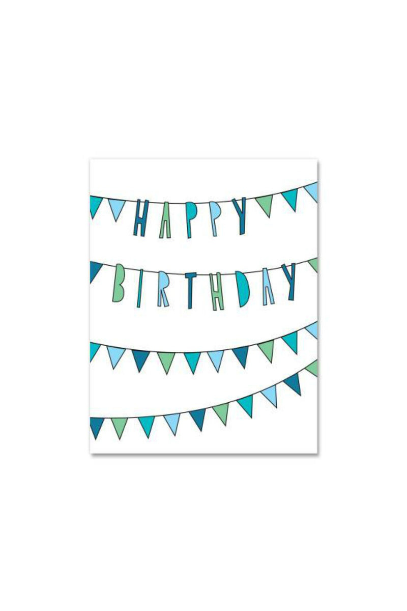 Near Modern Disaster Greeting Card - Birthday Bunting