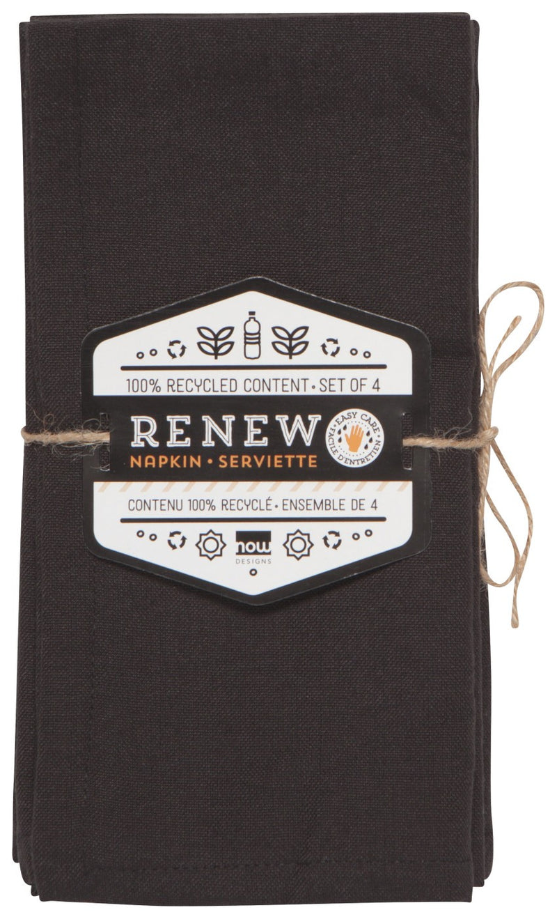 Now Designs Renew Napkins Set of 4 - Black