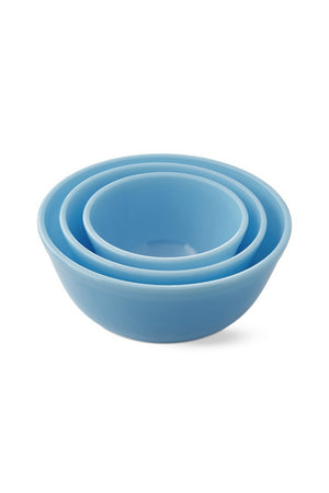 Mosser Glass Mixing Bowls Set - Robins Egg Blue