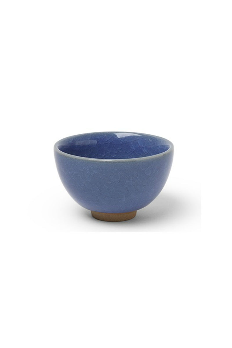 Miya Sakura Crackle Teacup in Blue