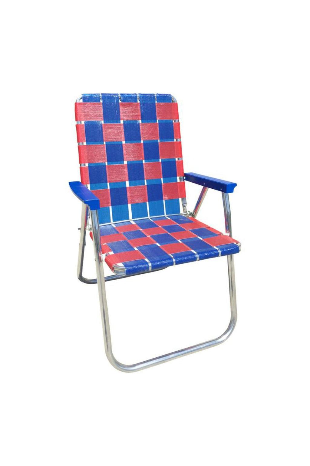 Classic Lawn Chair - Blue/Red Deluxe
