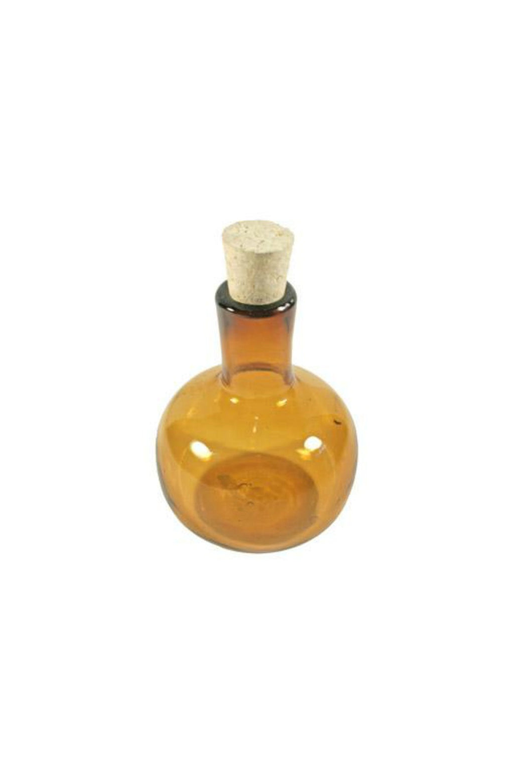 Amber Bottle with Cork