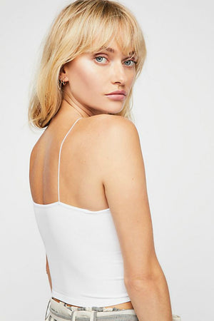 Free People Skinny Strap Brami in White