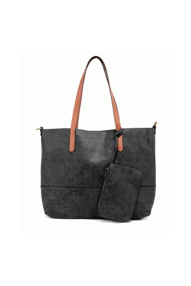 Joy Susan Brushed 2 in 1 Tote - Black