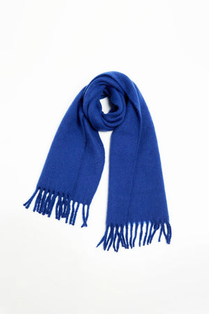 Look Vivid Colored Grunge Scarf in Blue
