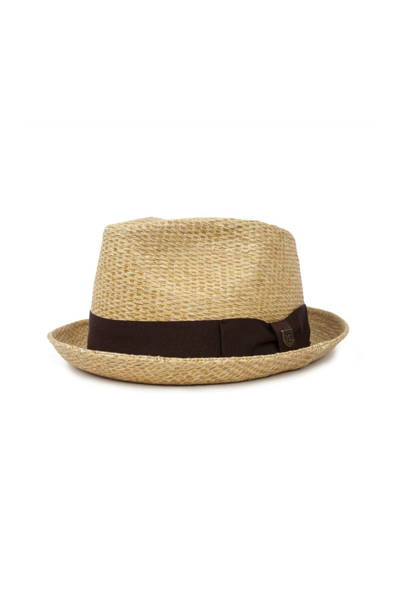 Brixton Castor Fedora in Dark Tan