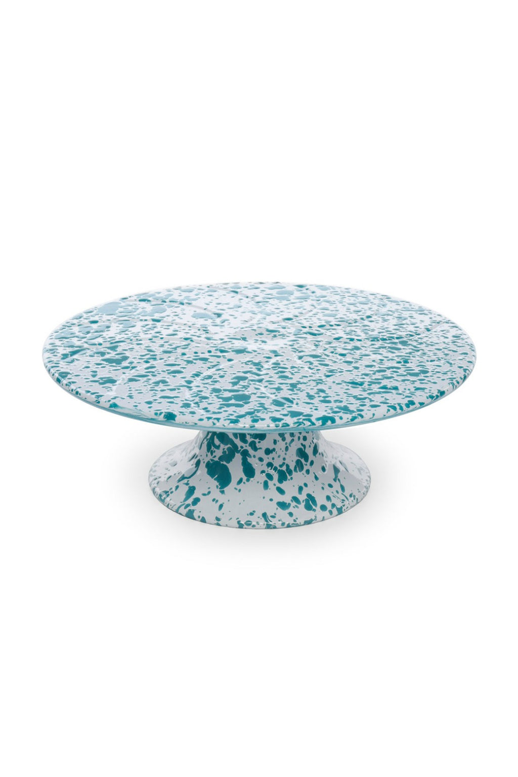 "Crow Canyon Home 11"" Cake Platter - Turquoise & White"