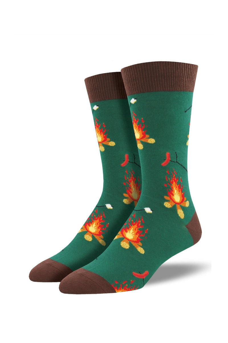 Socksmith Men's Novelty Bamboo Campfire Socks