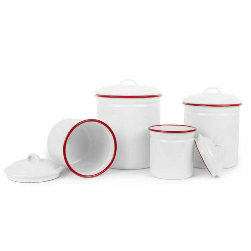Crow Canyon Home Enamelware Canister Set