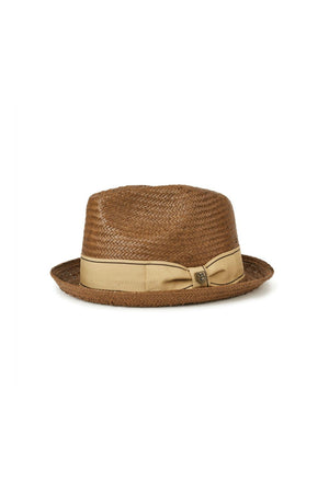 Brixton Castor Fedora in Brown/Gold