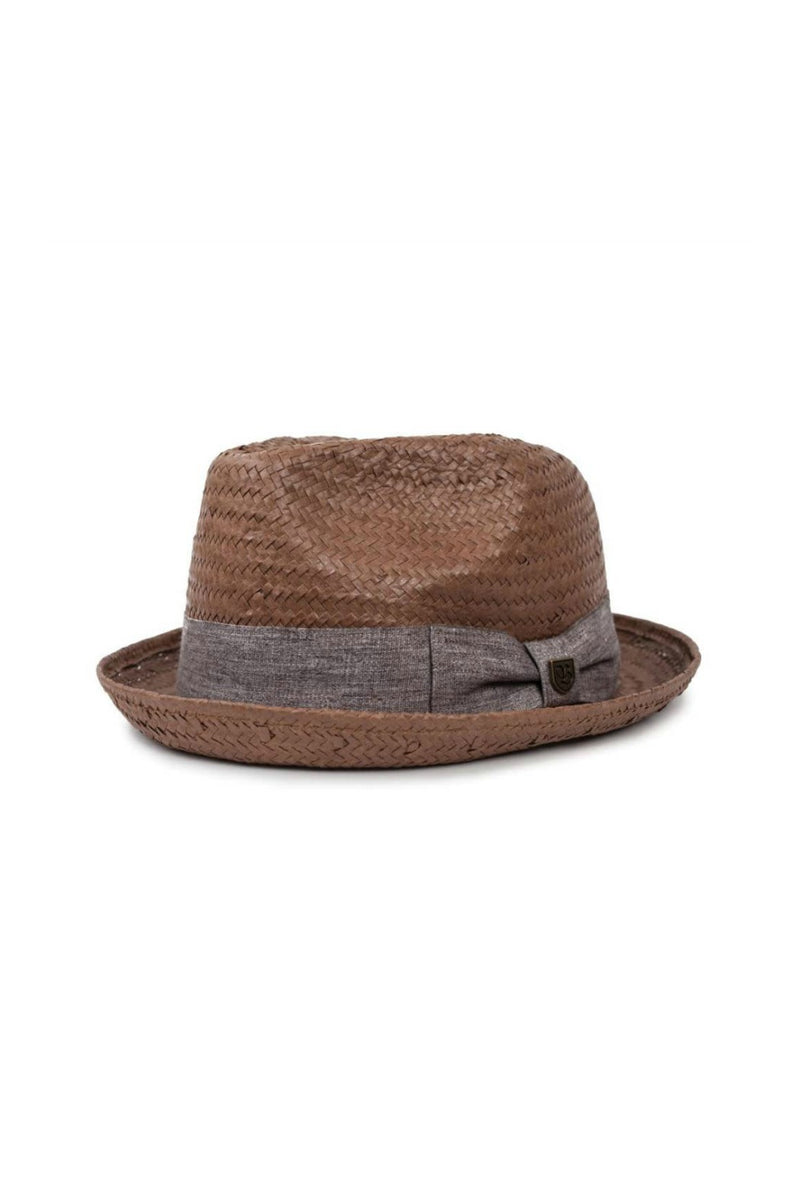 Brixton Castor Fedora in Chocolate