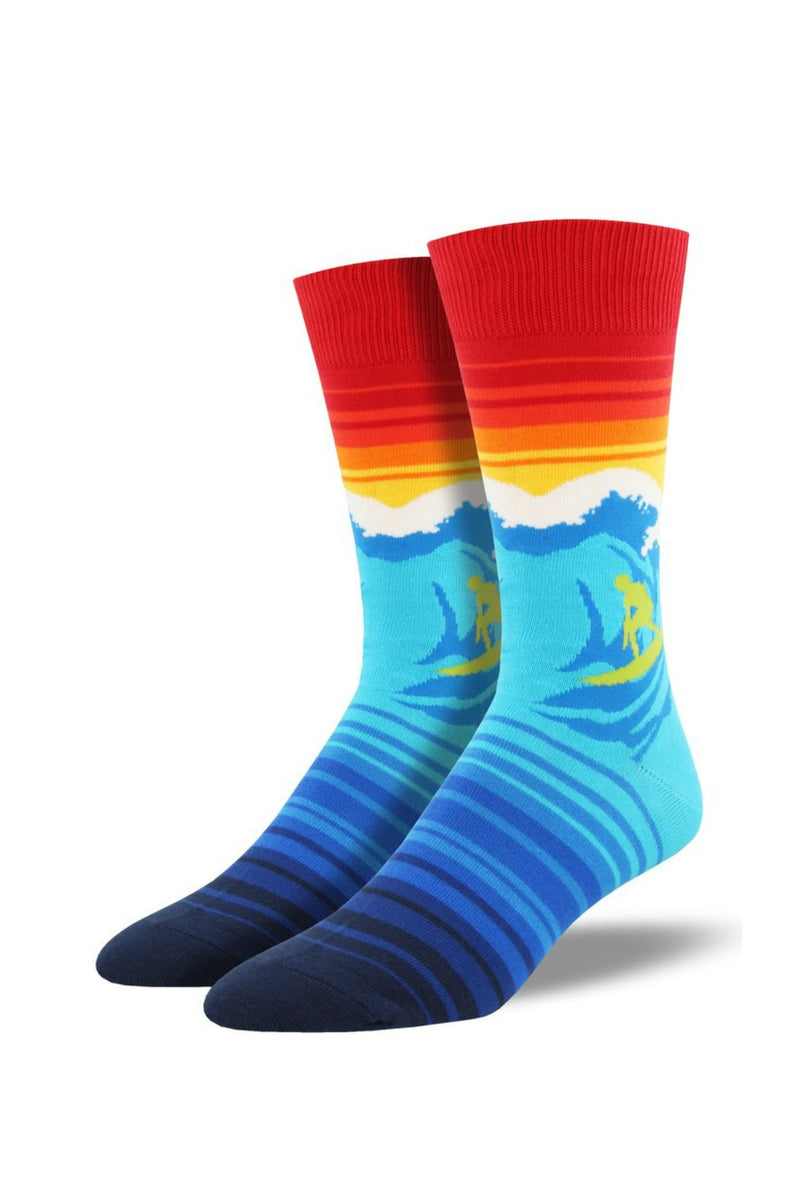 Socksmith Men's Novelty Bamboo Socks in Catch a Wave
