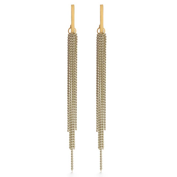 Amano Studio Chain Duster Earrings - Beige