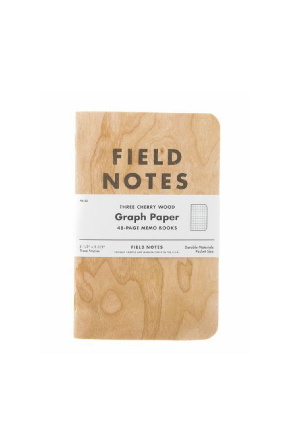 Field Notes Cherry 3-pack Graph Paper
