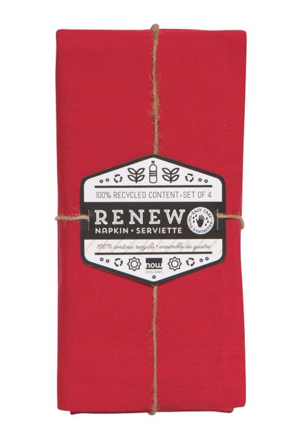 Now Designs Renew Napkins Set of 4 - Chilli