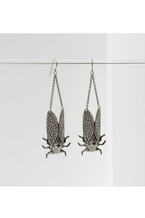 Larissa Loden Cicada Earrings - Silver