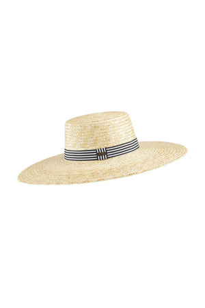 Coal Clary Full Brim Hat - Natural