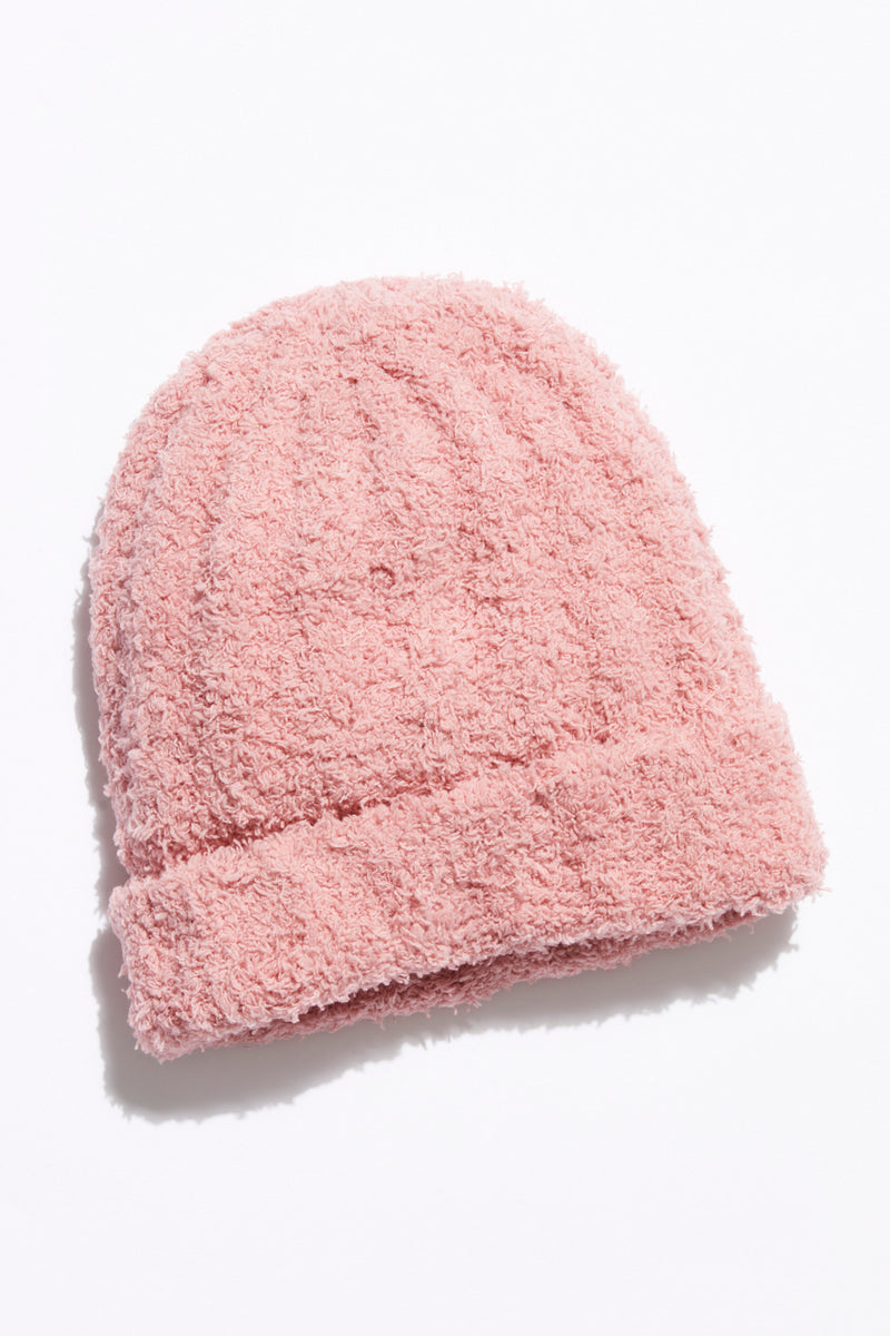 Free People Cloud Rib Beanie - Blush