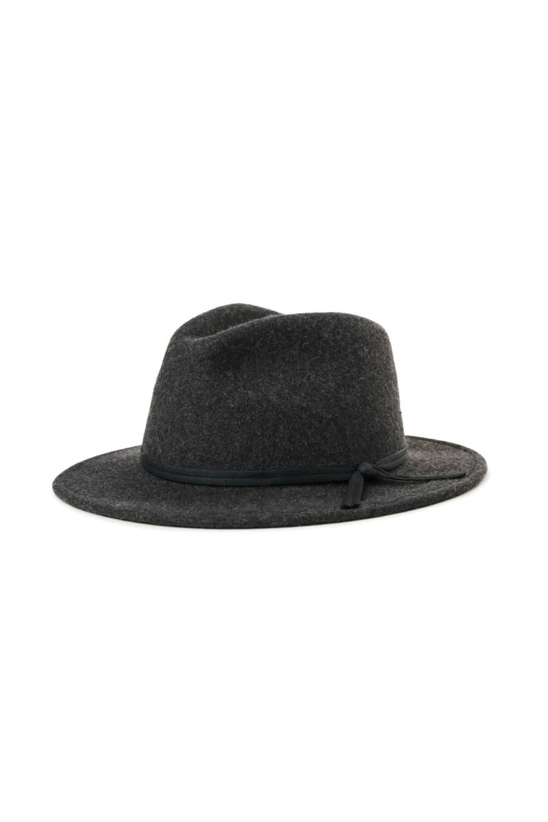 Brixton Coleman Fedora in Black Mix