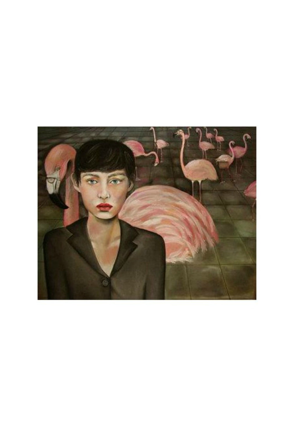 Caryn Cast Print - Corporate America (Flamingos)