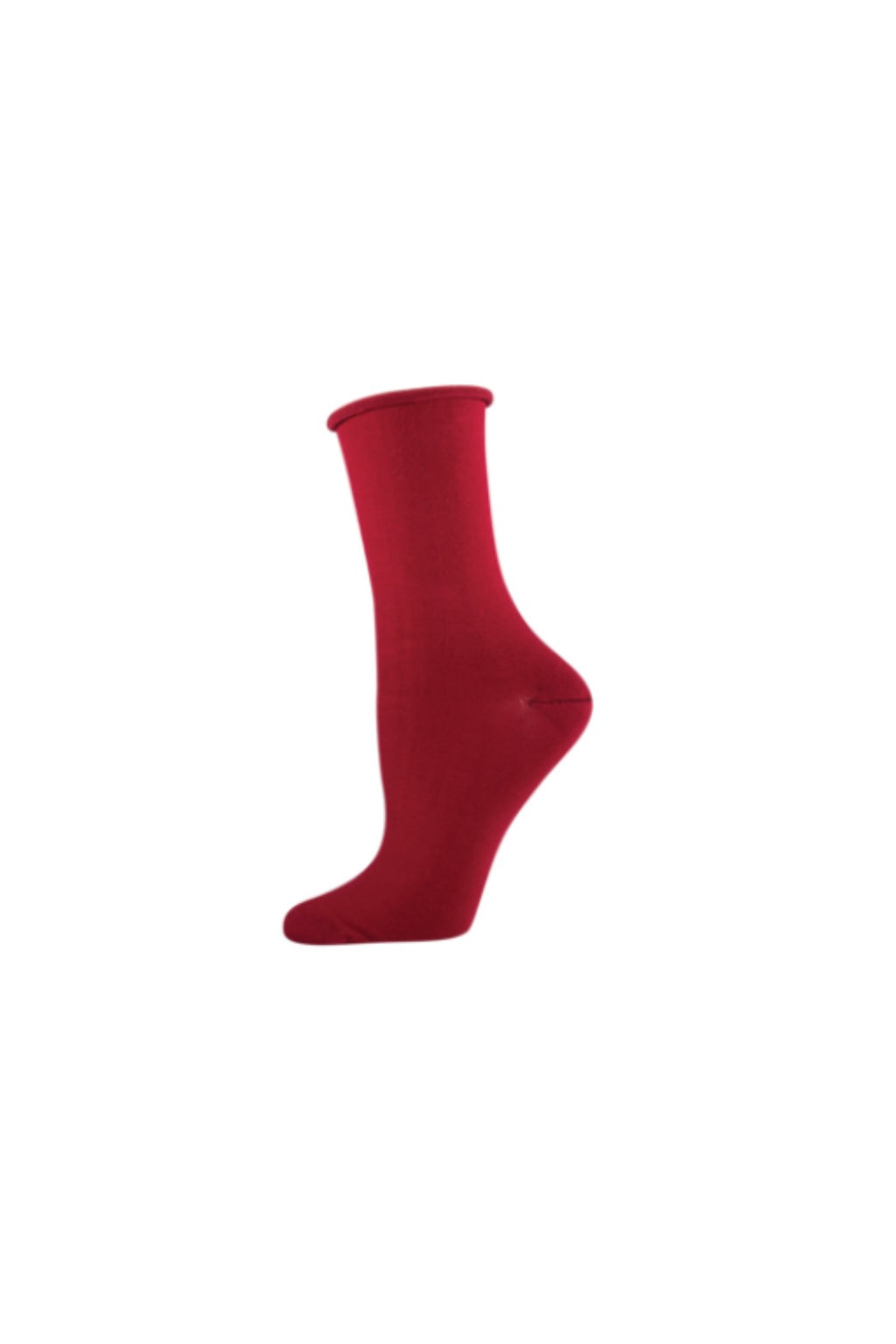 Socksmith Bamboo Crew Socks in Crimson