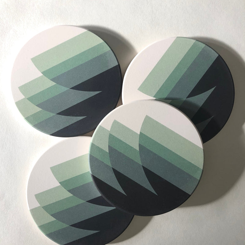 Tramake Stone Coasters - Waves