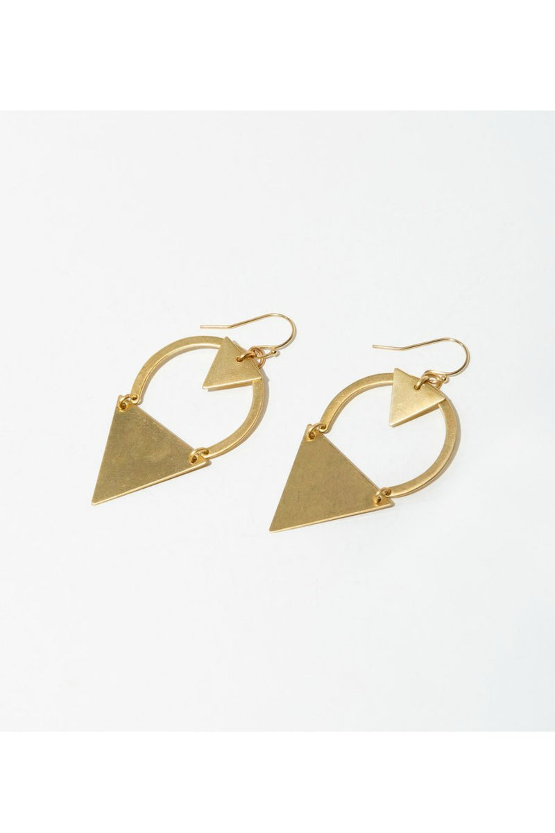 Larissa Loden Dart Earrings - Brass
