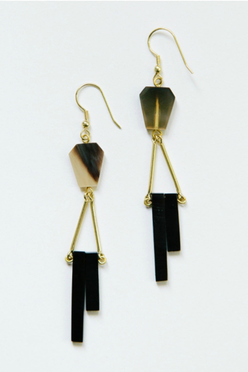 Mata Traders Delano Earrings in Horn