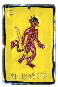 Tin Ornament - El Diablito Tarot