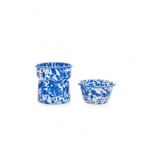 Crow Canyon Home 2-Piece Dip Pot - Blue Splatter