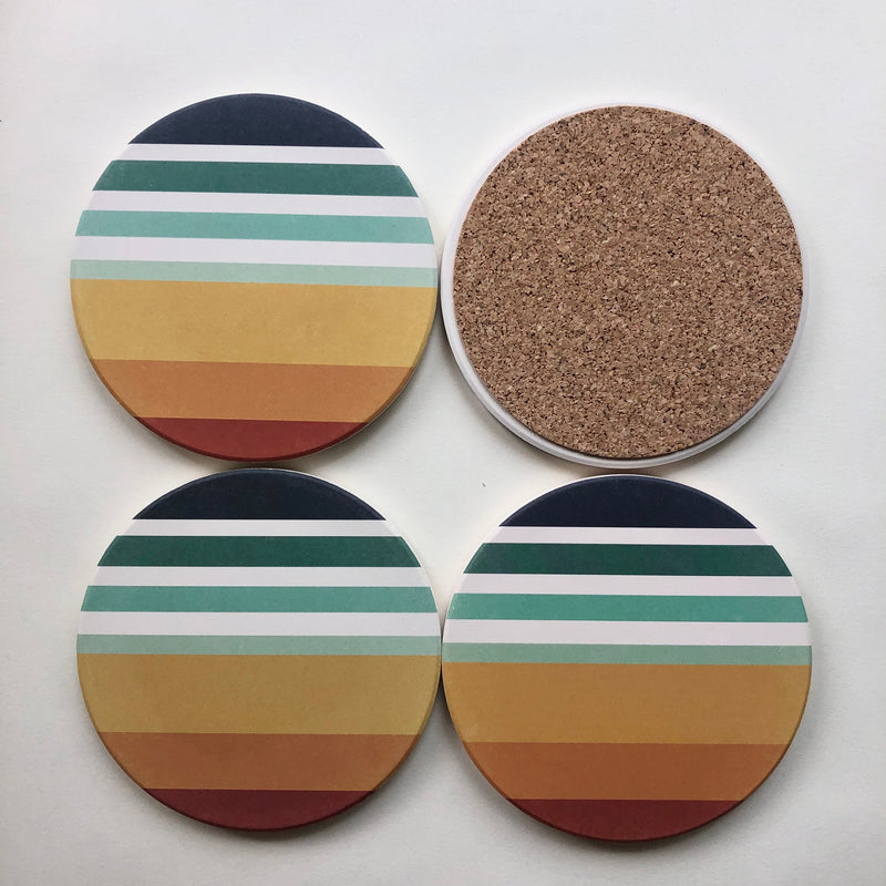 Tramake Stone Coasters - Sunset