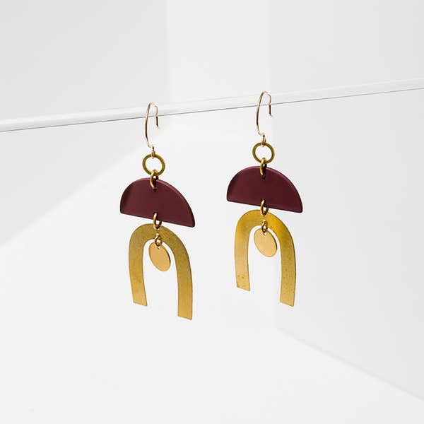 Larissa Loden Tulum Earrings - Maroon