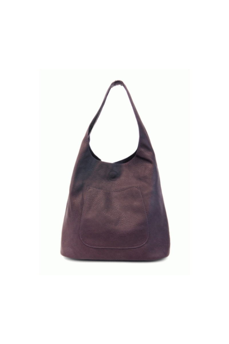 Joy Susan Molly Slouchy Hobo Bag - Eggplant