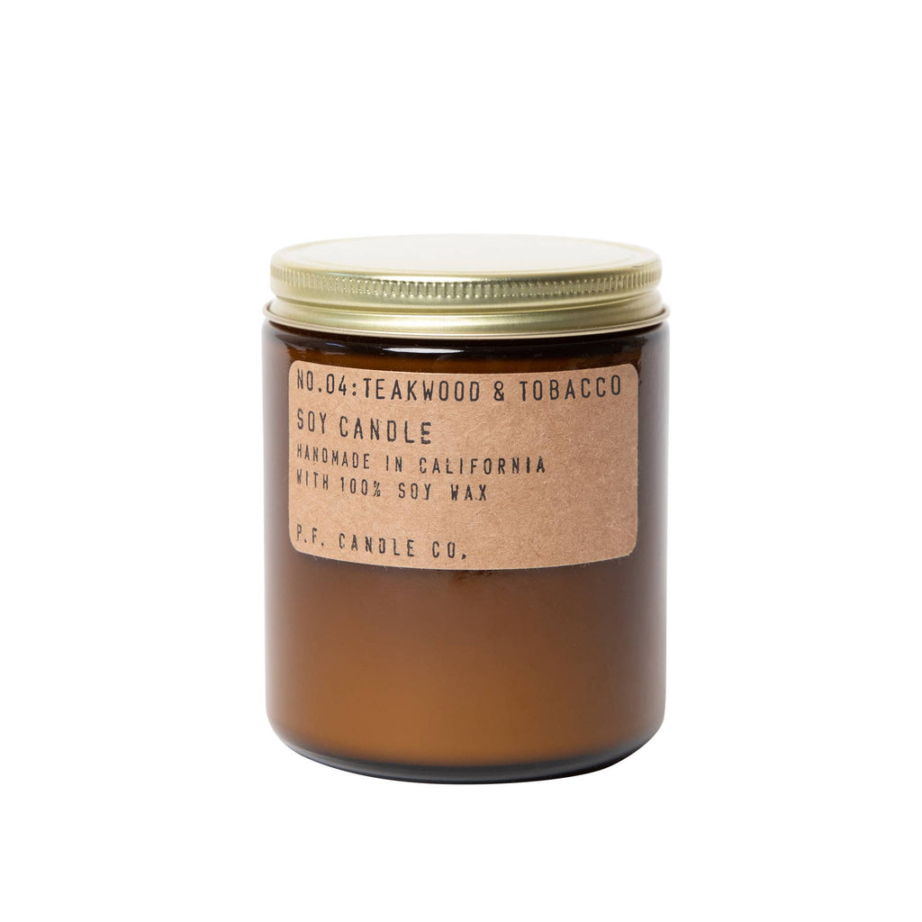 P.F. Candle Co. 7.2 oz. Soy Candle - Teakwood & Tobacco