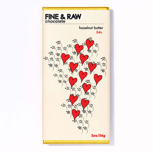 Fine & Raw Valentine's 2 oz. Hazelnut Butter Chocolate Bar