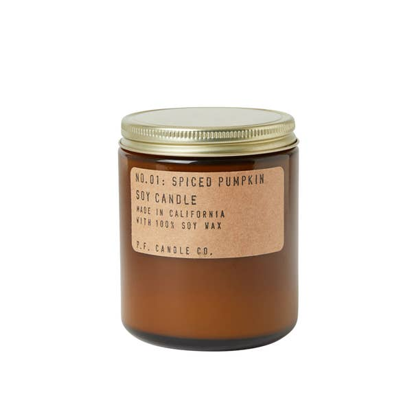 P.F. Candle Co. 7.2 Soy Candle - Spiced Pumpkin