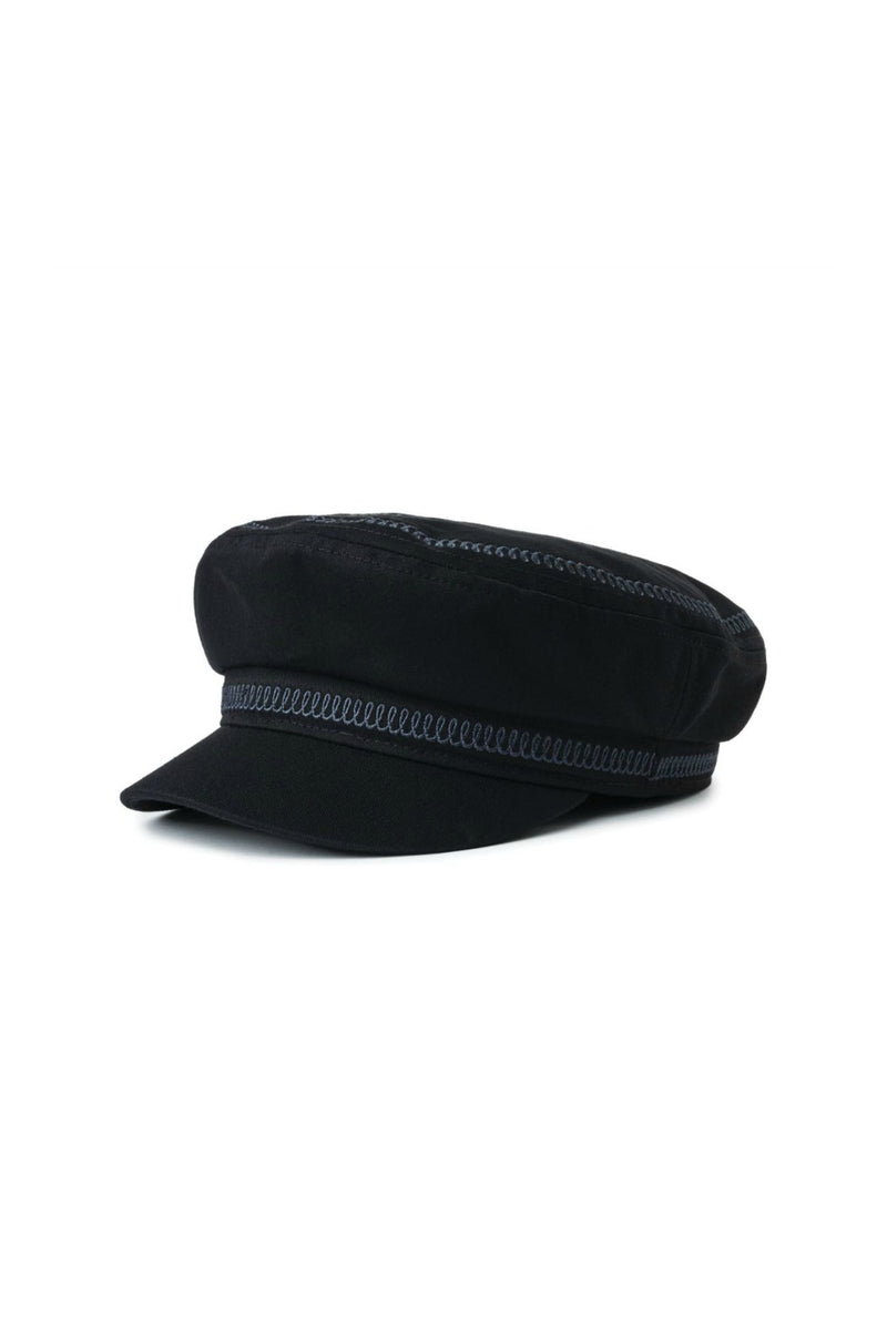 Brixton Fiddler Embroidered Cap in Black