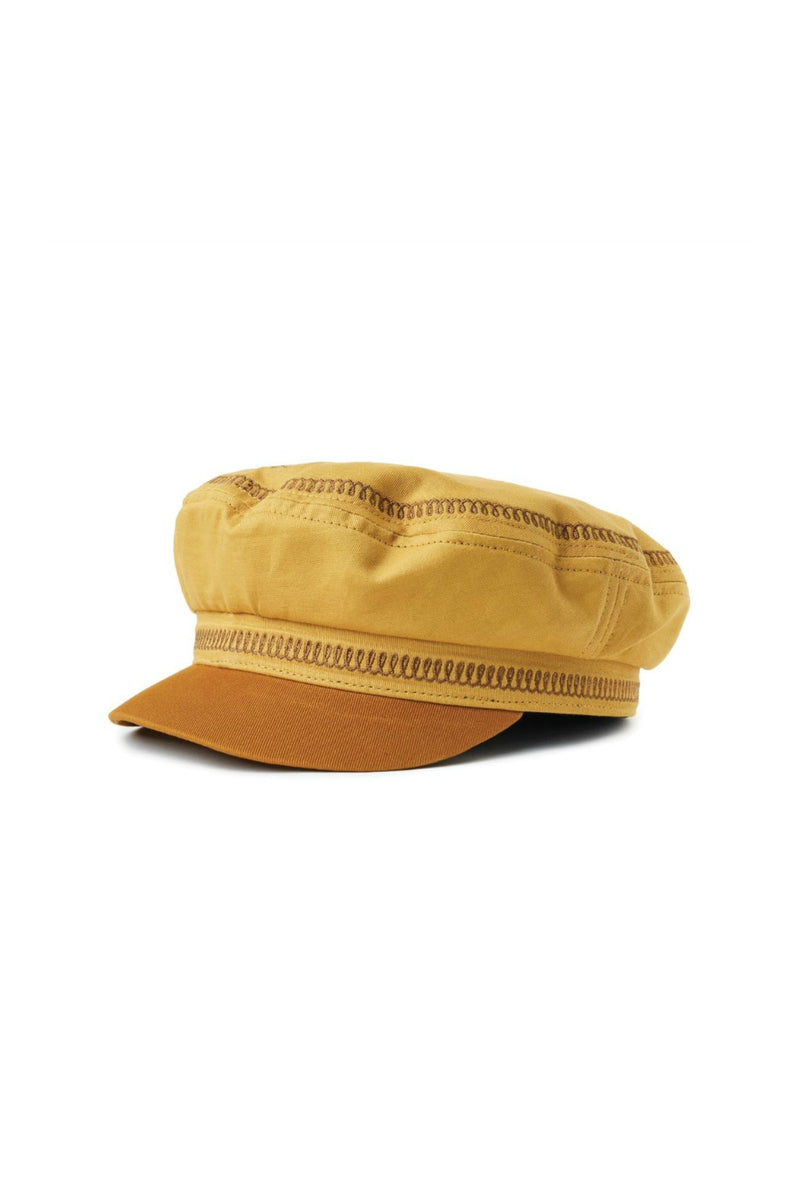 Brixton Fiddler Embroidered Cap in Nugget Gold