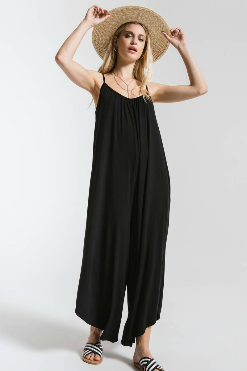 Z Supply Flared Jumpsuit - Black