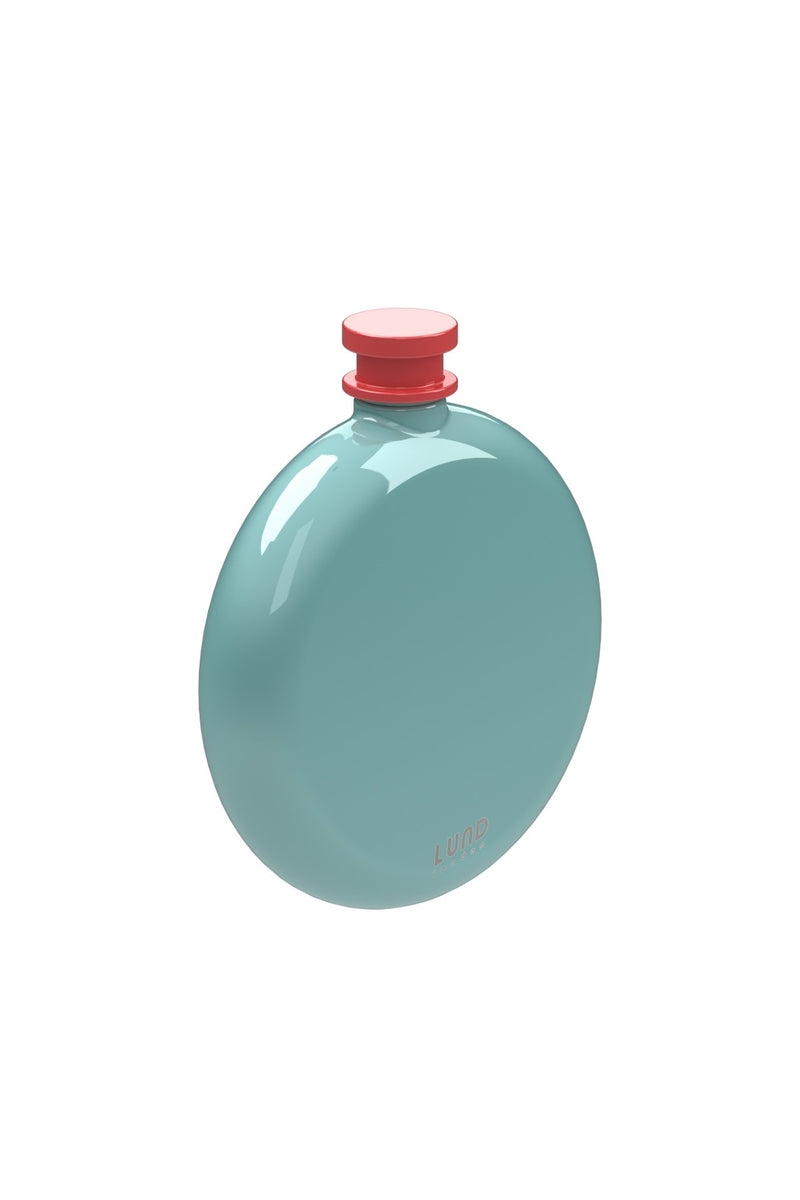 Lund London Skittle Round Hip Flask - Mint & Coral