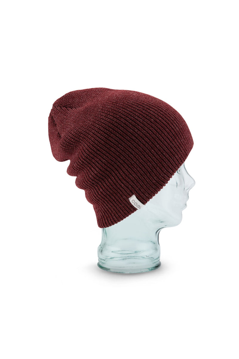 Coal Frena Solid Beanie - Heather Burgundy
