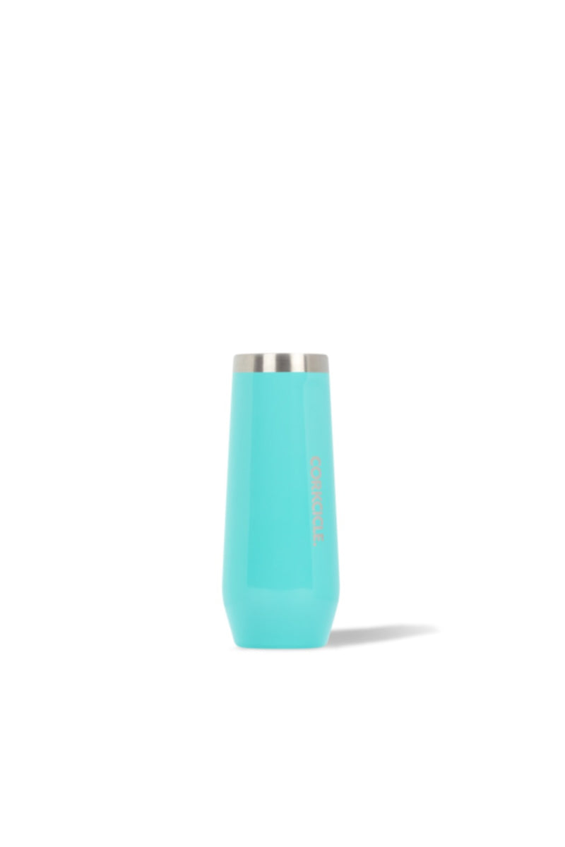 Corkcicle 8 oz. Champagne Flute in Gloss Turquoise